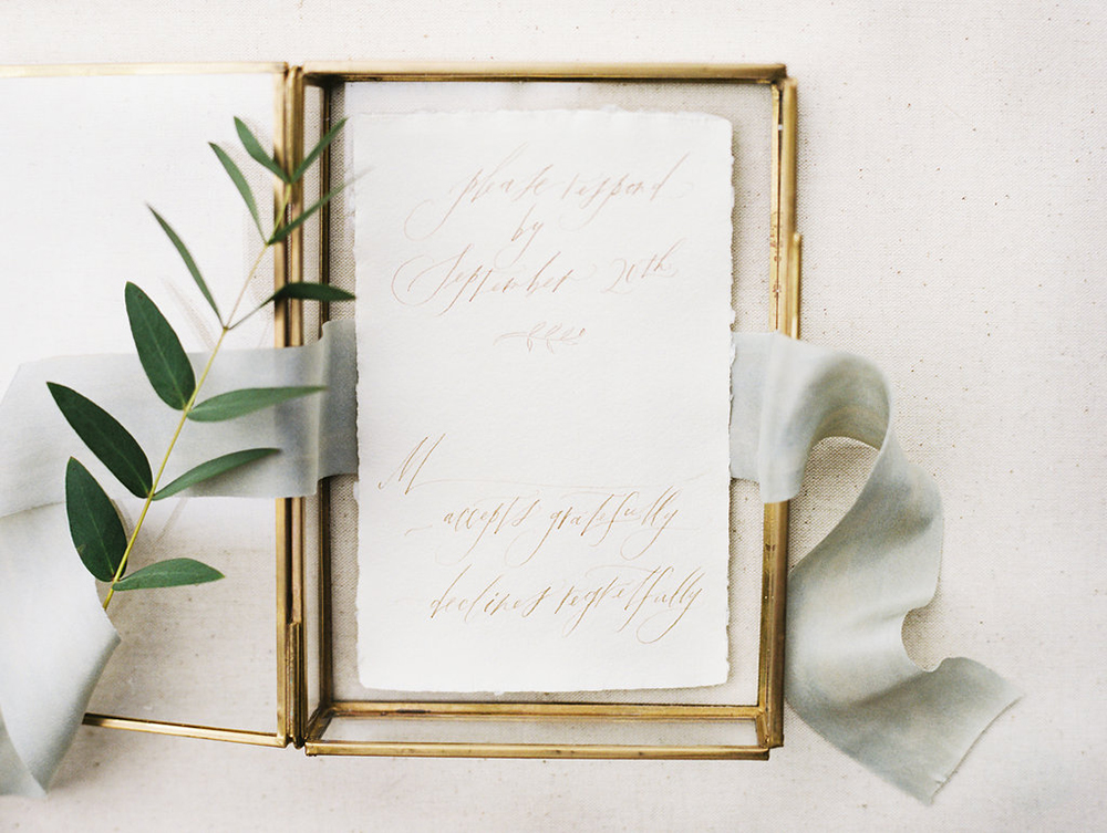 wedding paper goods - photo by Evelyn Barkey Photography http://ruffledblog.com/romantic-elopement-inspiration-with-rich-colors