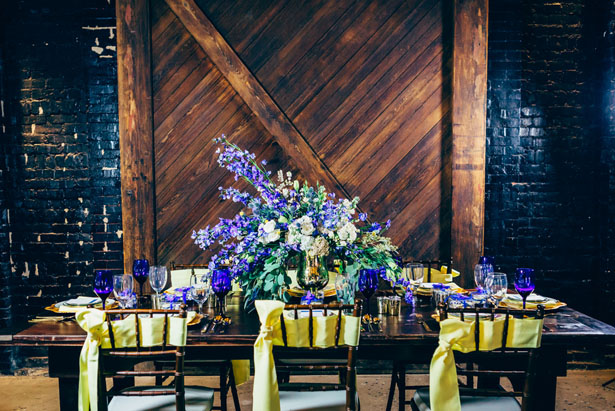 Rustic Glamour Wedding Tablescape - Derek Halkett Photography