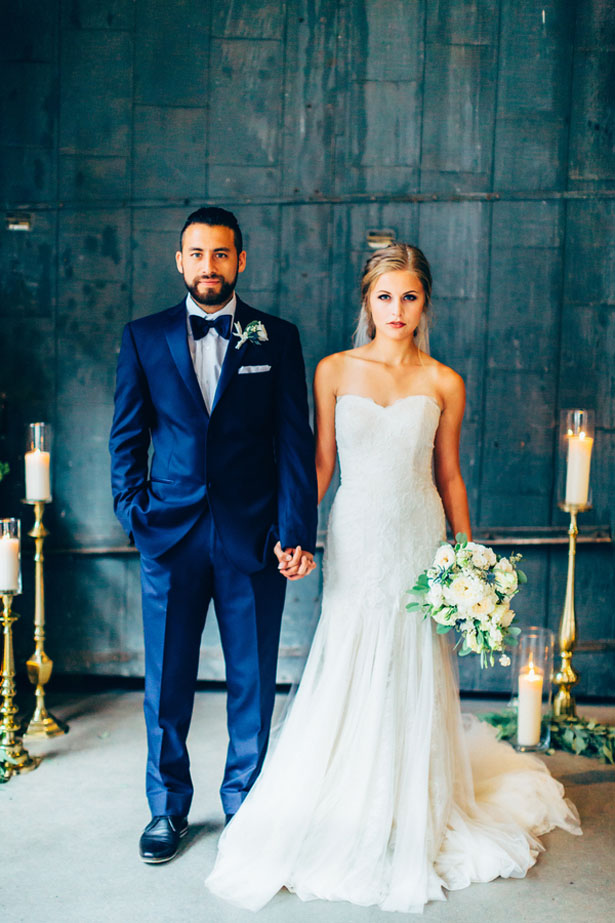 Stylish bride and groom - Derek Halkett Photography