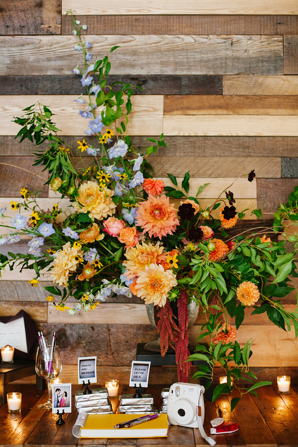 floral arrangements - photo by Levi Stolove Photography http://ruffledblog.com/botanical-wedding-with-a-mint-green-wedding-dress