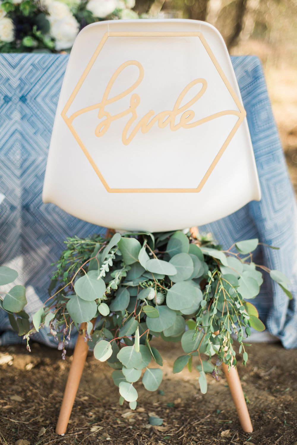 chair back designs - photo by Anya Kernes Photography http://ruffledblog.com/organic-wedding-inspiration-with-shades-of-blue