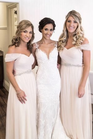 Long bridesmaid dresses - William Innes Photography