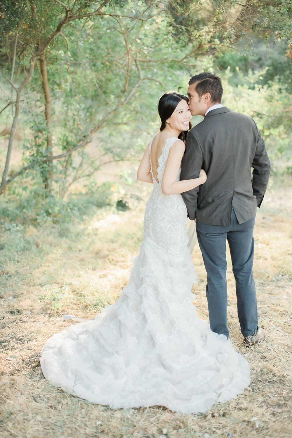 bride and groom - photo by Anya Kernes Photography http://ruffledblog.com/organic-wedding-inspiration-with-shades-of-blue
