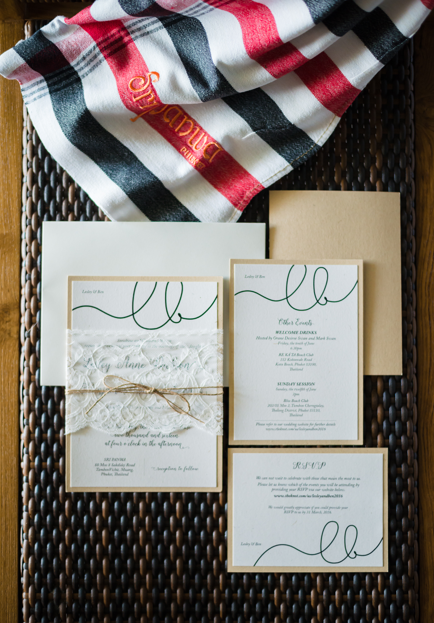 wedding stationery - photo by DarinImages http://ruffledblog.com/this-bride-is-sharing-all-you-need-to-know-about-a-destination-wedding-in-thailand