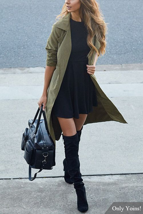 Trench Coat Outfits Women-19 Ways to Wear Trench Coats this Winter (5)