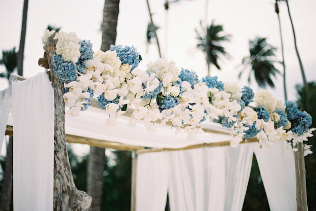 Hydrangea wedding ceremony decor Asia Pimentel Photography