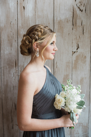 Charcoal grey bridemaids dress | Starfish Studios
