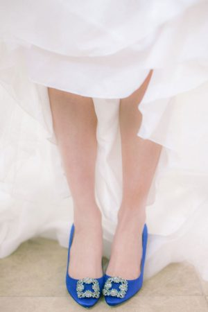 Blue bridal shoes - Clane Gessel Photography