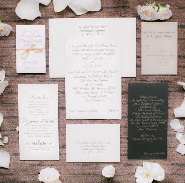 Wedding invitation suite - Clane Gessel Photography