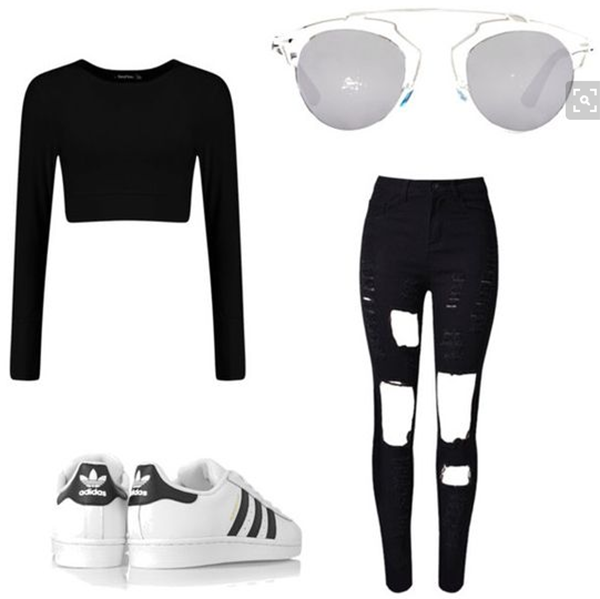 best outfits with adidas superstars (5)