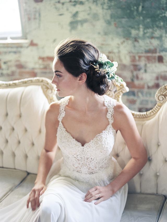 low updo for wedding   Kim Ing Photography