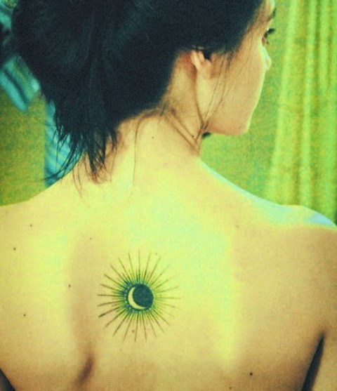 Adorable tattoo on the back