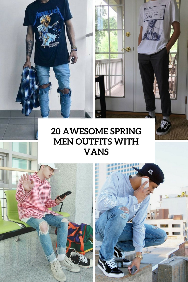 awesome spring men outfits with vans cover