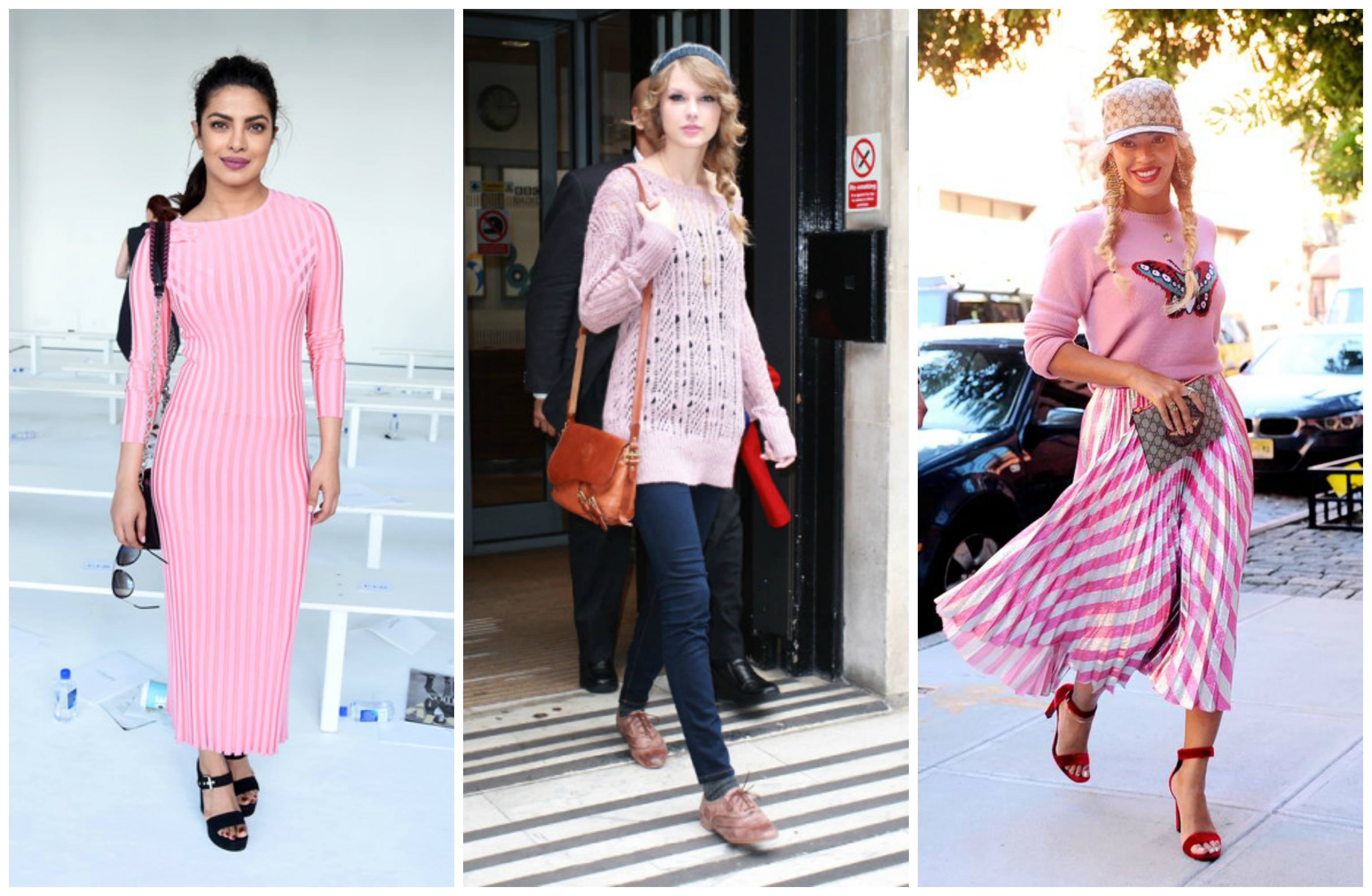 pink sweater outfits for women