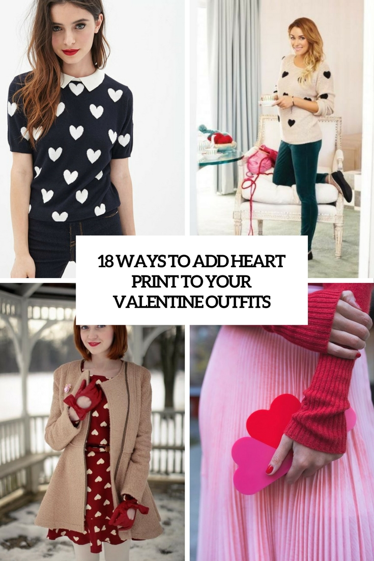 ways to add heart print to your valentine outfits cover