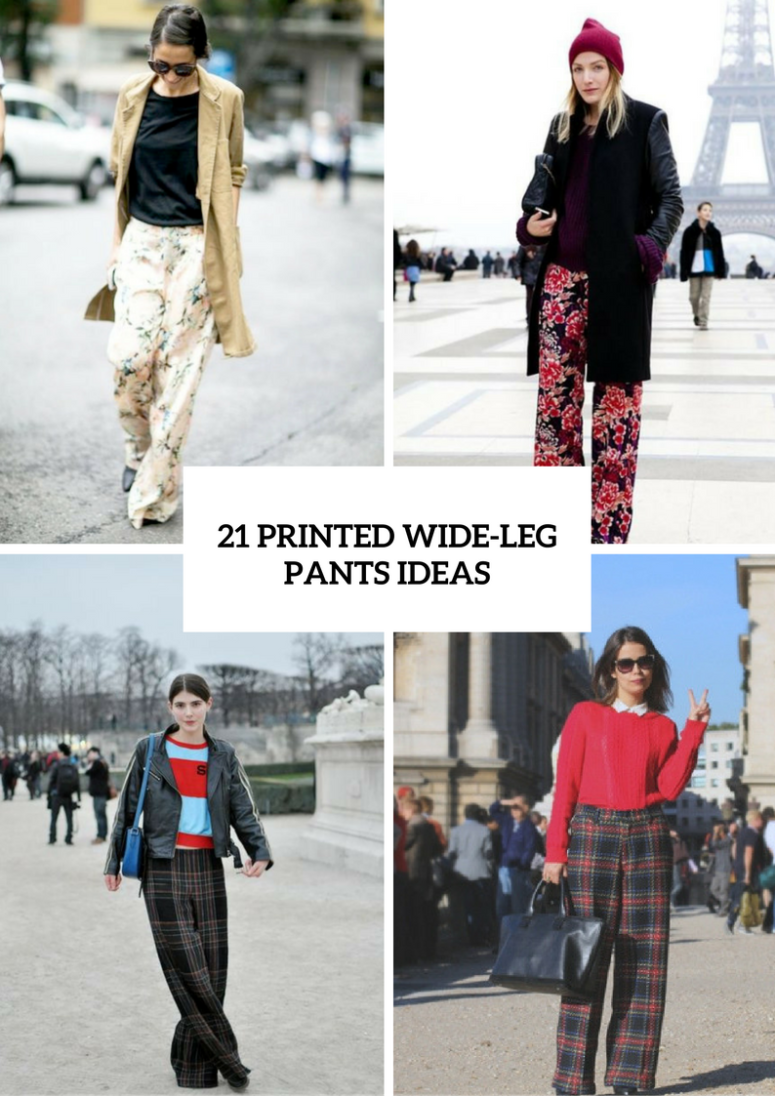 Cool Printed Wide Leg Pants Ideas To Repeat