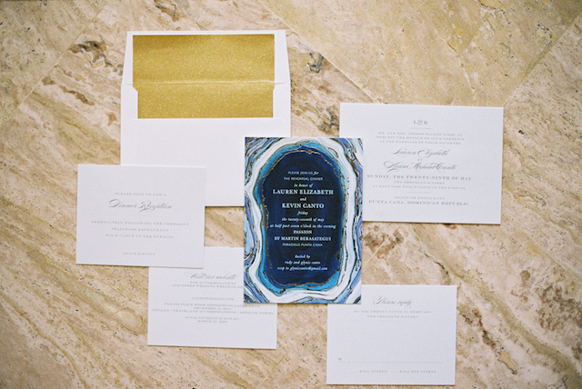 Geode wedding invitations | Asia Pimentel Photography