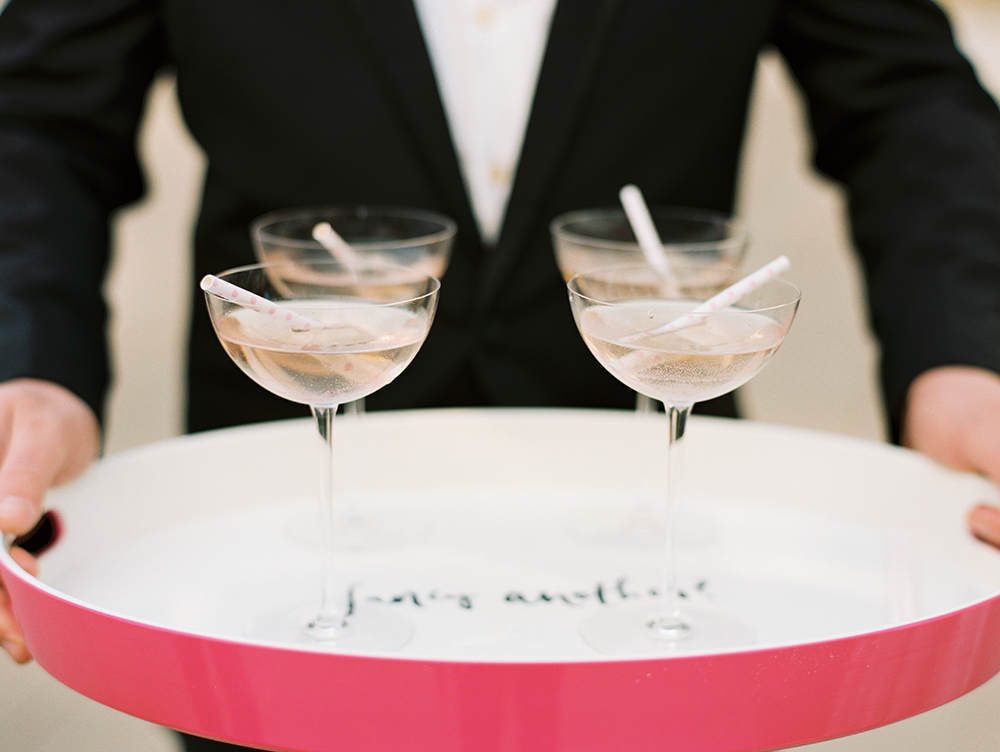 cotton candy wedding drinks - photo by Erin Stubblefield http://ruffledblog.com/chic-city-valentines-day-wedding-inspiration