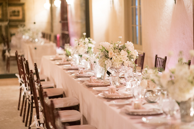 Blush pink wedding reception | Starfish Studios