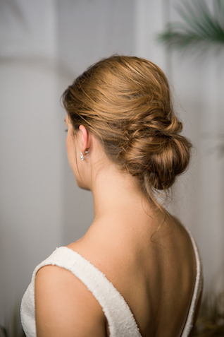 Low bun updo | #aislesocietyexperience @aislesociety presented by @minted | Brkyln View Photography