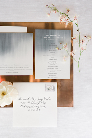 Modern beach wedding invitations | #aislesocietyexperience @aislesociety presented by @minted | Brkyln View Photography