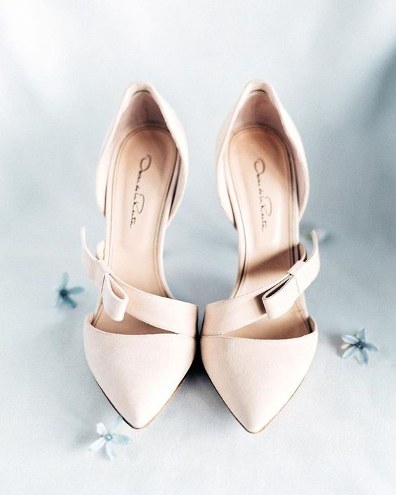 blush bow heels will fit any refined look