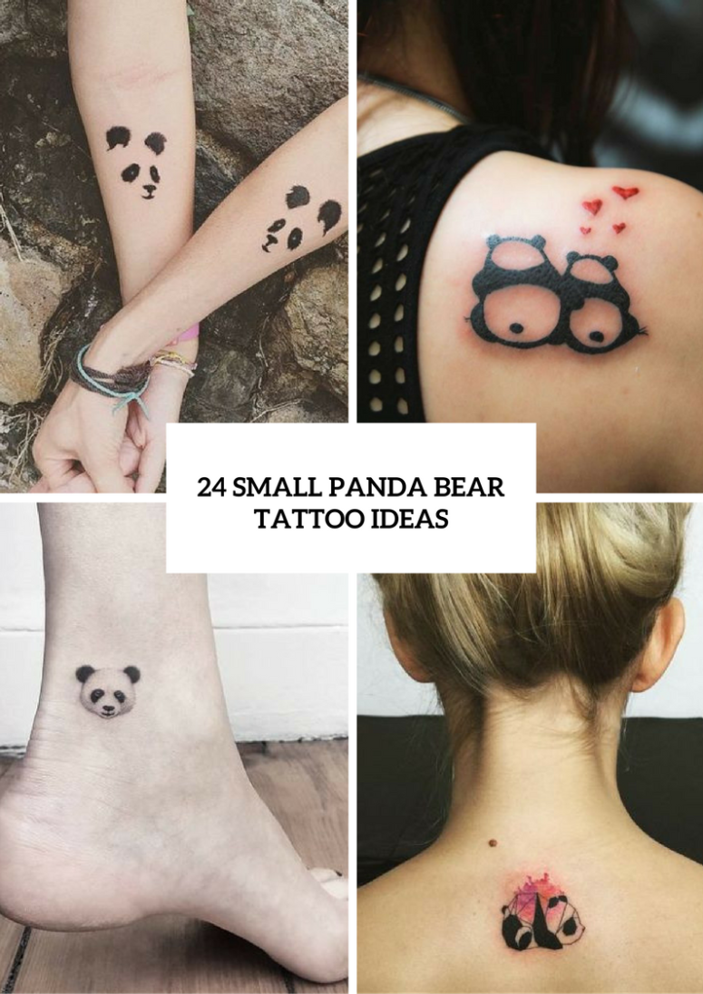 Small Panda Bear Tattoo Ideas For Girls