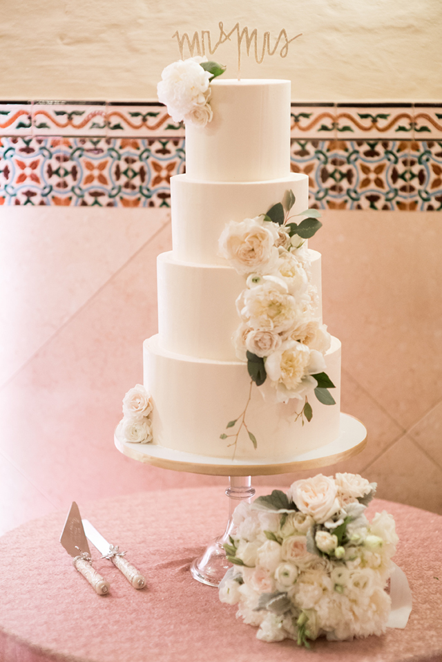 White classic wedding cake with peonies | Starfish Studios