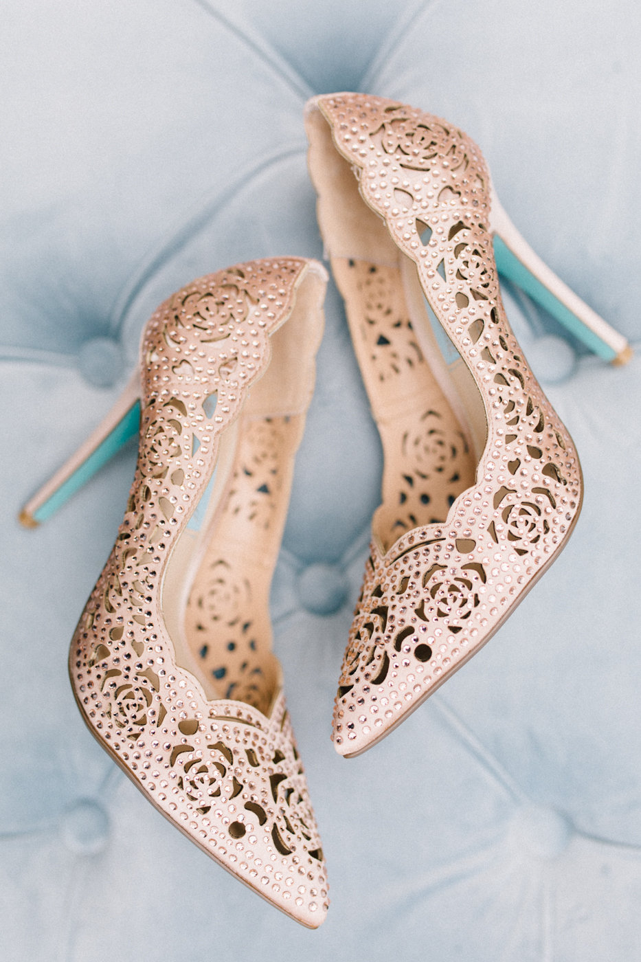 lasesr cut wedding shoes - photo by 4 Corners Photography http://ruffledblog.com/backyard-elopement-inspiration-for-valentines-day