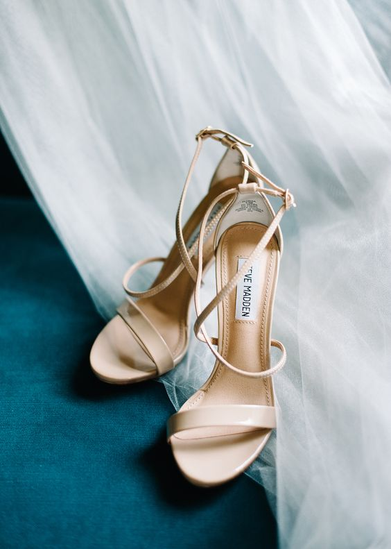 strappy nude sandals look very sexy
