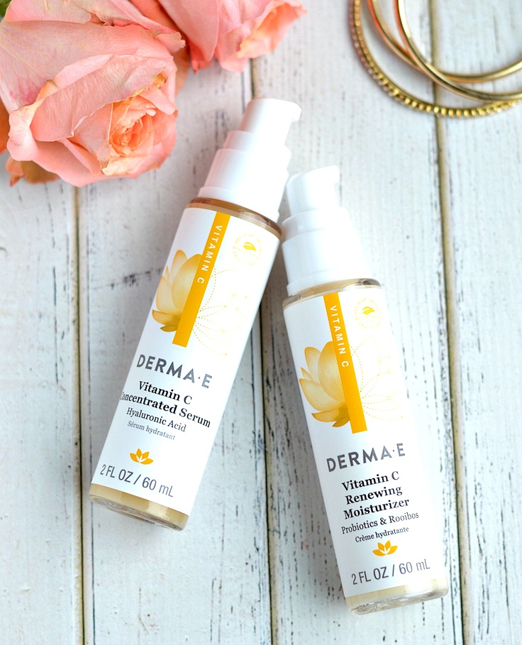 Derma E Vitamin C Concentrated Serum and Vitamin C Renewing Moisturizer