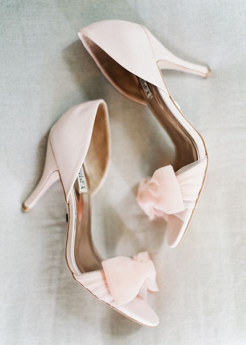 blush and girly with a low enough heel for comfort