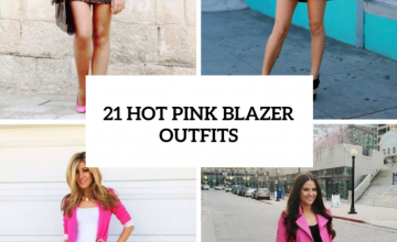 Hot Pink Blazer Outfits For Women