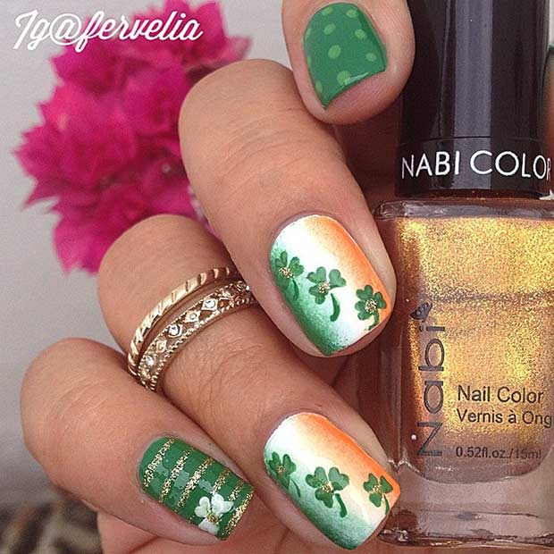 Nail Design Idea for St Patrick's Day