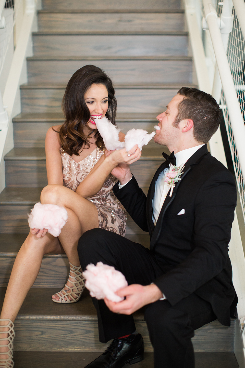 cotton candy weddings - photo by Erin Stubblefield http://ruffledblog.com/chic-city-valentines-day-wedding-inspiration