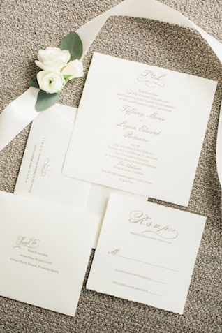 Classic wedding invitation suite | Starfish Studios
