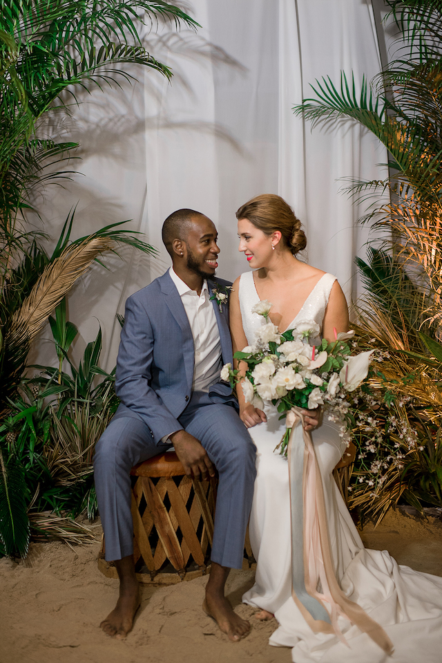 Indoor beach wedding | #aislesocietyexperience @aislesociety presented by @minted | Brkyln View Photography