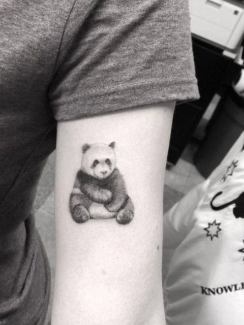 Panda tattoo on the arm