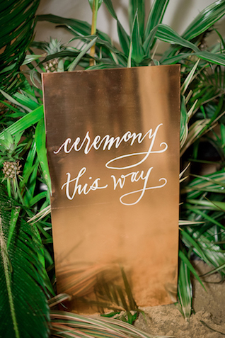 Ceremony sign | #aislesocietyexperience @aislesociety presented by @minted | Brkyln View Photography