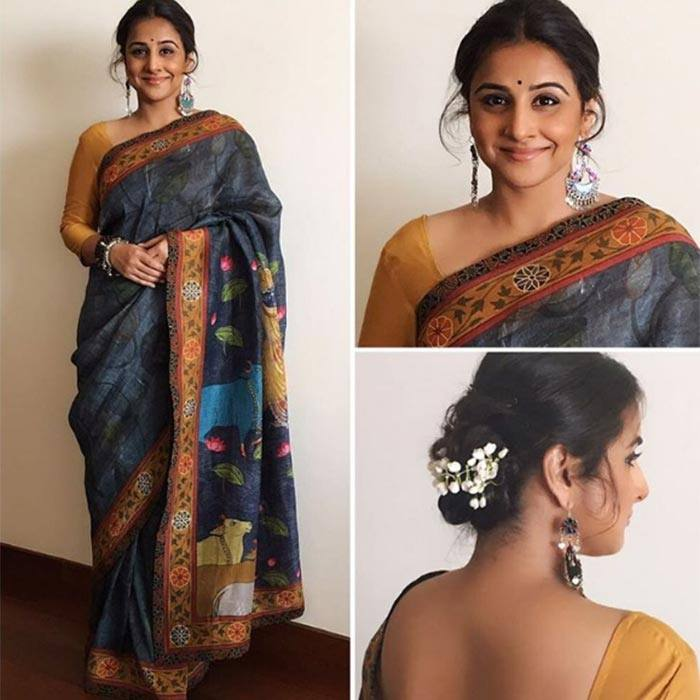 f3b07022ff You can get great inspiration from Vidya Balan who despite her short  height, really loves wearing sarees. She always glams up even the most  simplest sarees ...