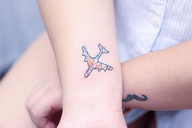 Stained-glass airplane idea