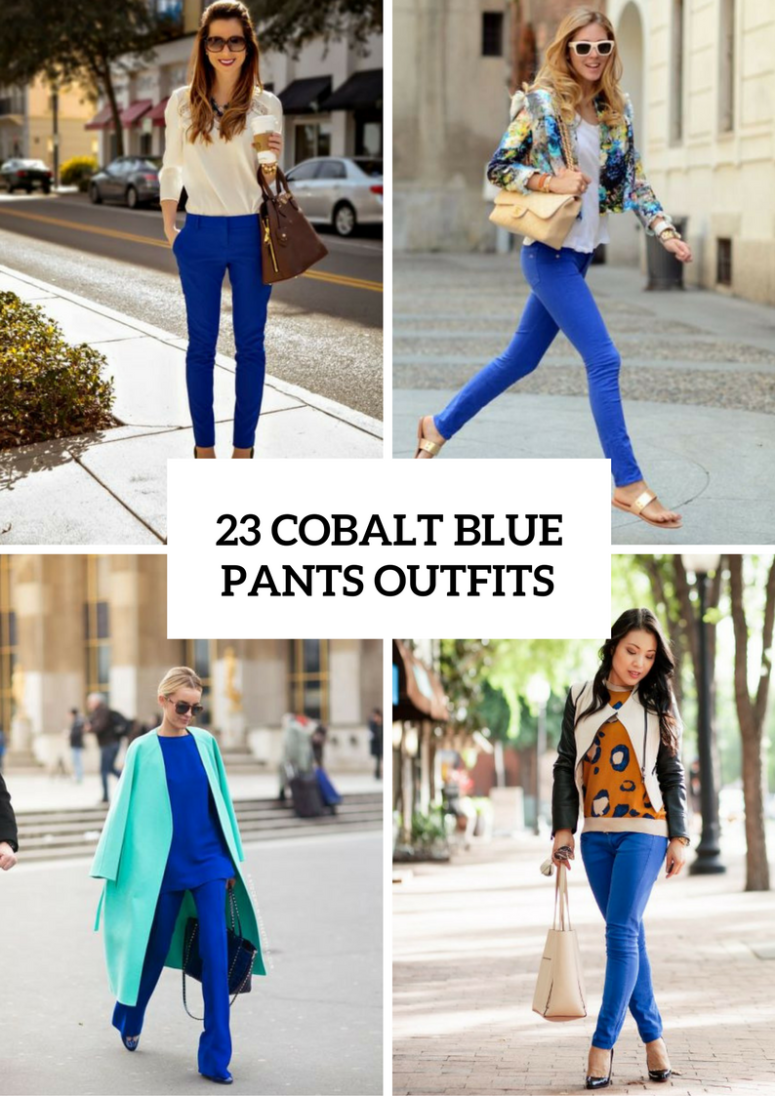 Cobalt Blue Pants Outfits For This Spring