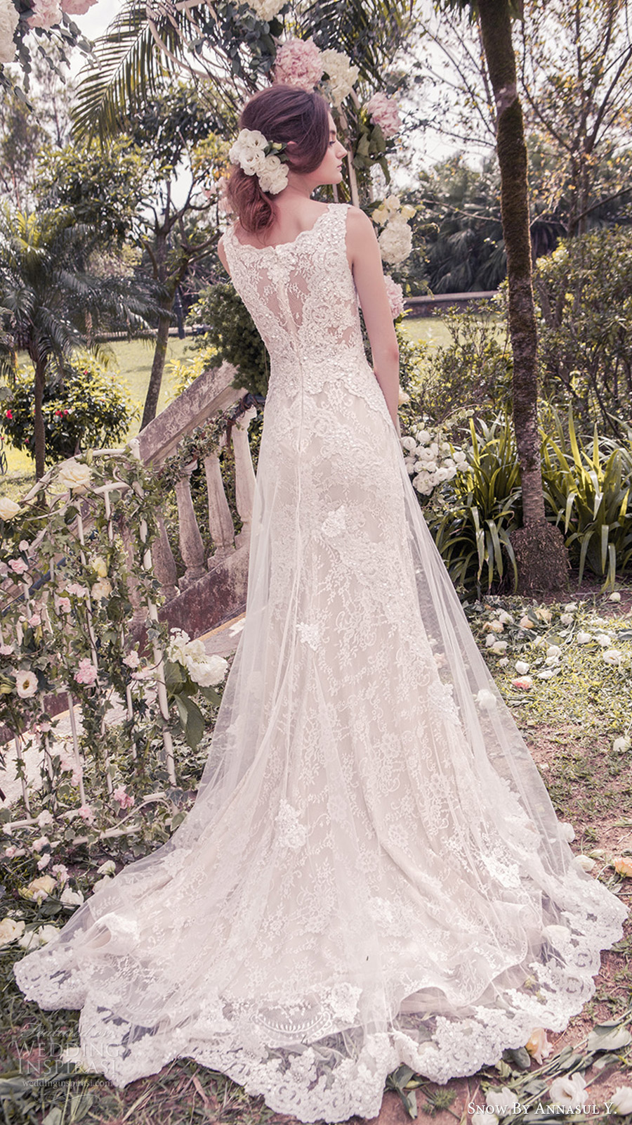 snow annasul y 2017 bridal (sa3244b) sleeveless v neck a line lace wedding dress train bv illusion back train