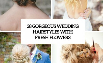 gorgeous wedding hairstyles with fresh flowers cover