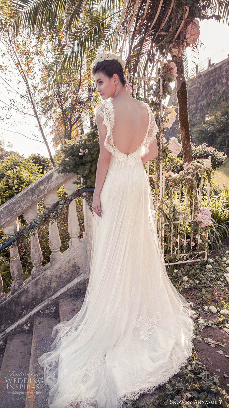 snow annasul y 2017 bridal (sa3333b) sleeveless illusion jewel neck sweetheart lace bodice a line wedding dress bv train open back