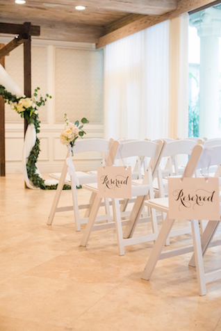 Classic indoor wedding ceremony | Starfish Studios