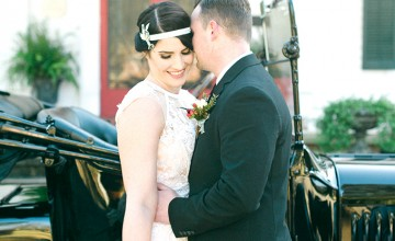 This wedding shoot was inspired by the Roaring 20s, and perfectly stylized according to the trends of the decade