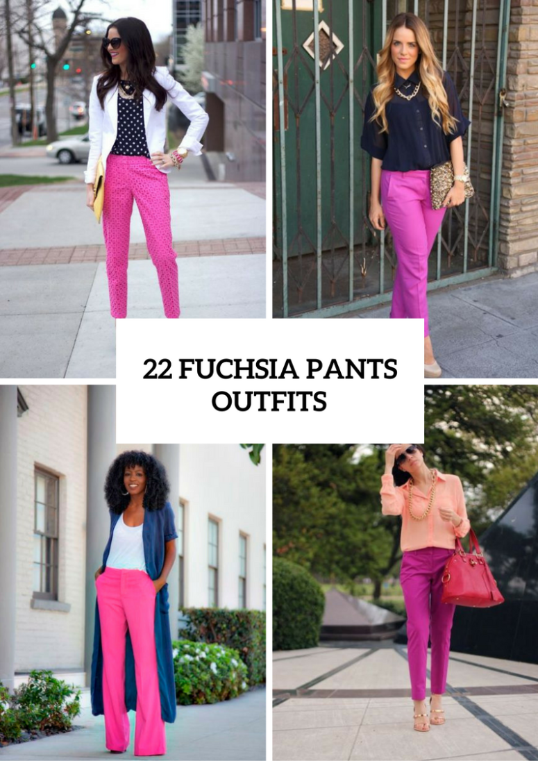 Fuchsia Pants Outfits For Stylish Ladies