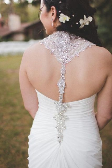 heavily beaded racerback strap always catches an eye