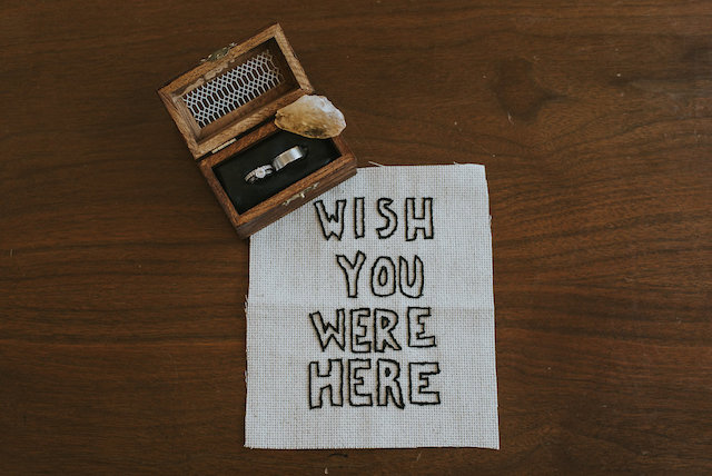 Needlepoint wish you were here | Lena Peterson Photography